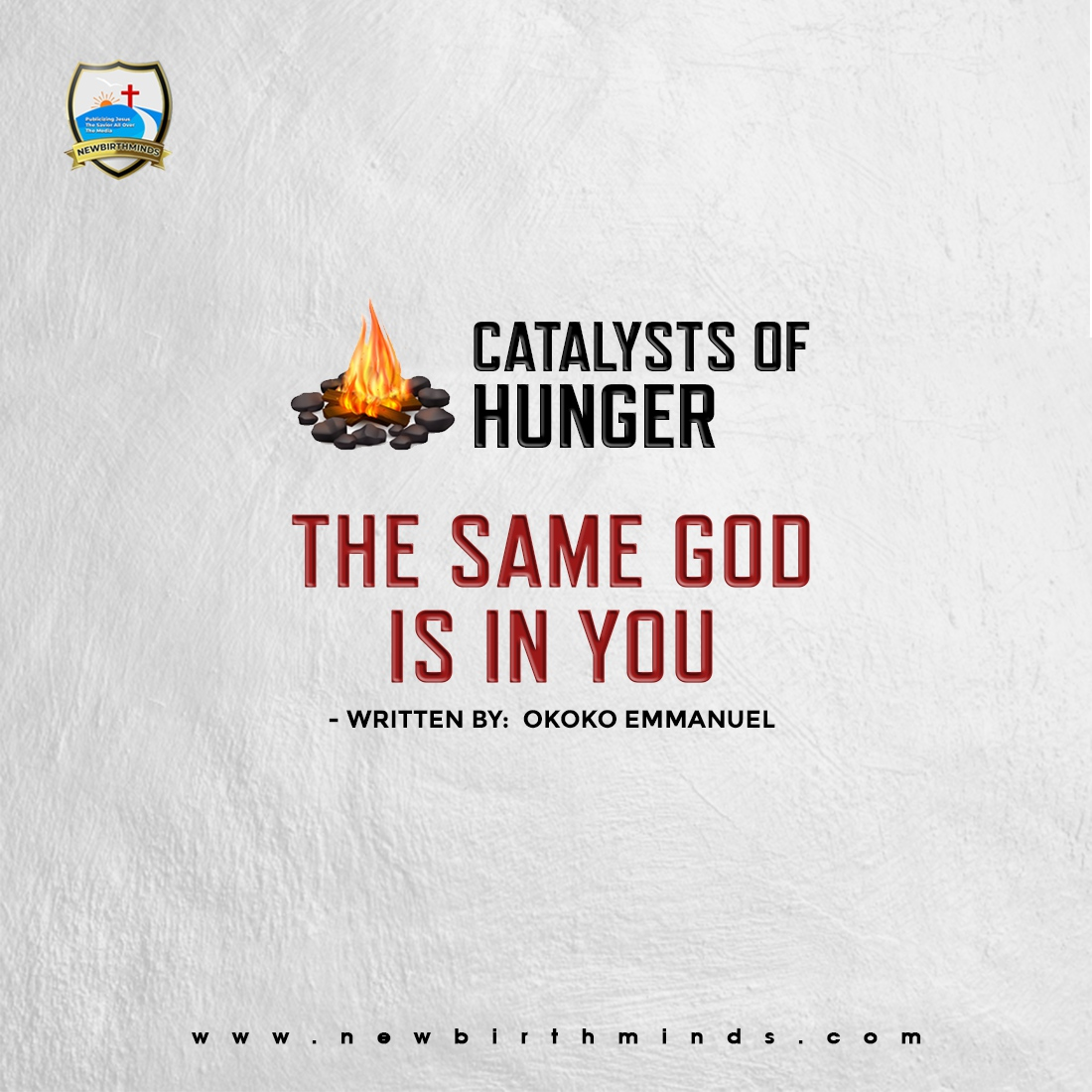 THE SAME GOD IS IN YOU